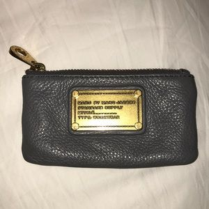 Marc by Marc Jacobs gray key and coin purse